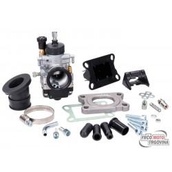 carburetor kit Malossi MHR 21 w/ reed block for Minarelli AM, Derbi D50B, EBE, EBS