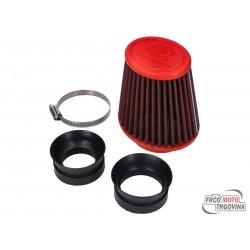Air filter Malossi red filter E18 racing for Dellorto PHBH, Mikuni, Keihin carburetor