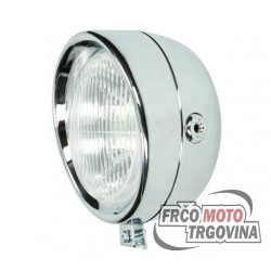 Front light 130mm Chrome - Tomos / Puch