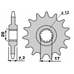 Lančanik Minarelli AM6 11z  420 - 4Tune