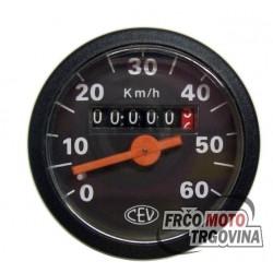 Speedometer  CEV -48mm - 0-60 km/h