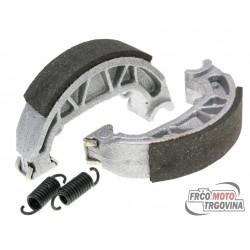 Brake shoe set Polini 100x20mm including springs for drum brakes for Piaggio Free, NRG, TPH / Typhoon 50, Zip Base 25/50