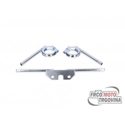Indicator bracket set front / rear knurled galvanized for round indicators 10mm for Simson S50, S51, S70