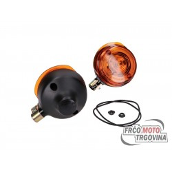 Turn signal set front round for Simson S50, S51, S70, SR50, SR80, MZ TS 250, ETZ 125, ETZ 150, ETZ 250