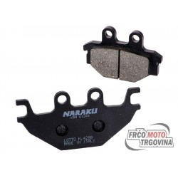 Brake pads Naraku for Kymco KXR, MXU, Maxxer, UXV, SYM Quad Lander, Yamaha MT, YZF-R