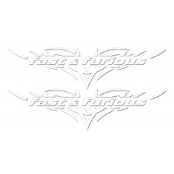 Stickers Fast & furious white - 120 mm - 2 pcs.