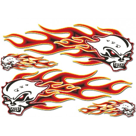 Set nalepk : Flammes kit  cm 35 x 25