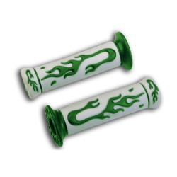 Rubber grips with  Green flame TNT