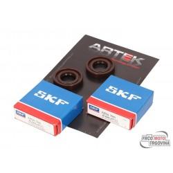 Crankshaft bearing set ARTEK K1 racing SKF polyamide for Derbi engines