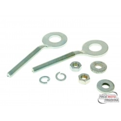Drive chain tensioner / rear axle adjuster set for Puch, Herkules, Kreidler, Zündapp