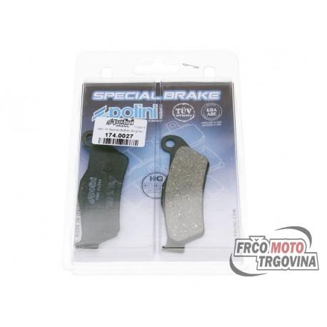Brake pads Polini for MBK Skyliner, Yamaha Majesty, Piaggio X9, Gilera Nexus, GP800, Suzuki UH Burgman 125, 150
