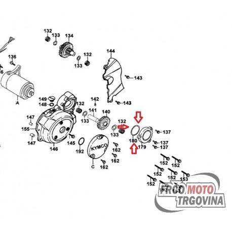 O - Ring 63x3mm sealing cap for starter shaft Kymco
