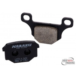 Brake pads Naraku organic for Aprilia RS4, Derbi GPR, Motorhispania RX, Pegasus R50X, Rieju MRT