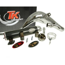 Izpuh Turbo Kit Bufanda Carreras 80 CROME   Rieju MRX, RRX, SMX, Spike
