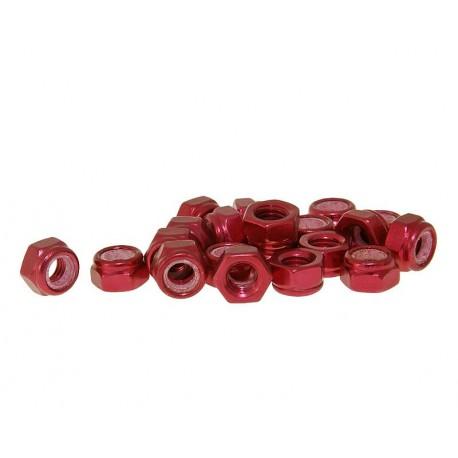 Varovalne matice aluminjaste rdeče  M5 -20kom