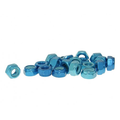 Varovalne matice aluminjaste modre M6 -20kom
