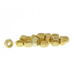 Varovalne matice aluminjaste zlate M6-20kom
