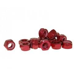 Varovalne matice aluminjaste rdeče M8 -15kom