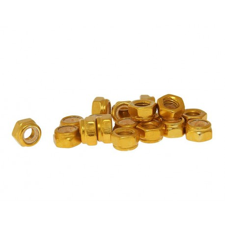 Varovalne matice aluminjaste zlate M5 -20kom
