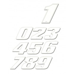 """Sticker WHITE   """"4""""  9 cm"""