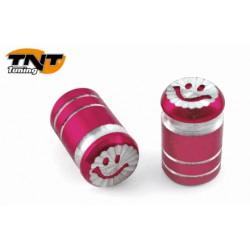 Decorative cap valve Smajli red pair of TNT