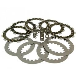 Clutch plate - disc set reinforced +20% for Derbi EBE , EBS , D50B0