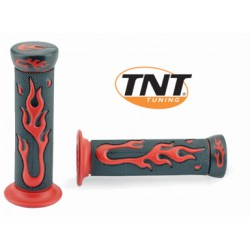 Rubber grips with RED flames TNT