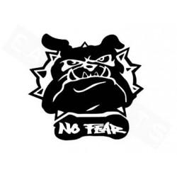 Naljepnica  Bulldog 11x12cm - Crna