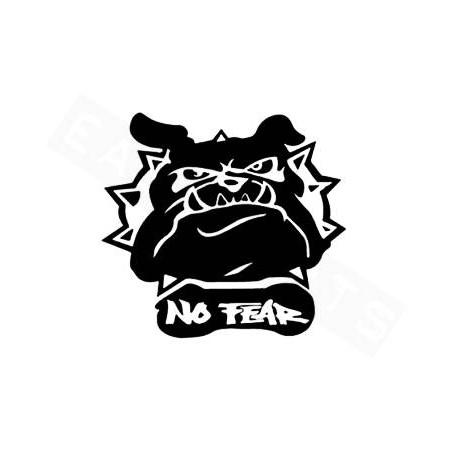 Nalepka Bulldog :11x12cm -Črna