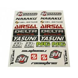 Sticker set 29x34cm 22-part transparent