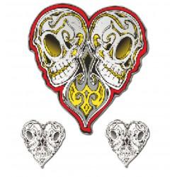 Nalepka HeartLoveSkull 10x12cm