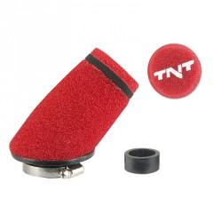 Športni zračni filter  TNT MOUSSE \'\'SMALL\'\' 30° - 28/35 mm-RDEČ