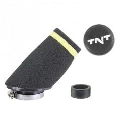 Športni zračni filter  TNT MOUSSE \'\'SMALL\'\' 30° - 28/35 mm-ČRNI