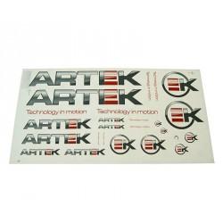 Sticker set   ARTEK Red-Black 44x23cm