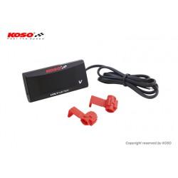 Merilnik voltaže KOSO Slim Style 6.0~19.9V - Rdeč napis