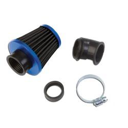 """Športni zračni filter KN\"""" Small black/blue 28/35mm"""