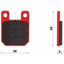 Zavorne ploščice C4Derbi, Pgt, Rieju- 36x45x6