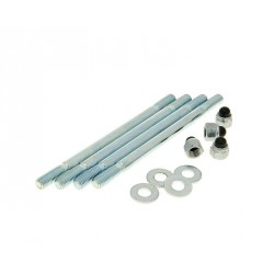 Cylinder bolt set incl. nuts M7 / 115mm - 4 pcs each for Minarelli AM