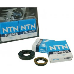 Crankshaft bearings Naraku heavy duty left and right incl. oil seals for Minarelli