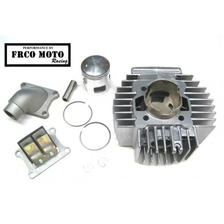 Cilinderkit F.M.Racing 70cc AJH - Sesalne lamele + Sesalno koleno /Tomos-Puch