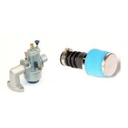Set Bing 15mm kit + Air filter SPORT- Blue