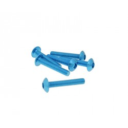 Fairing screws hex socket hed - alu. blue M5x30   (6 pcs)