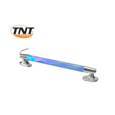 Neon cev CROME utripajoča Modra &Rdeča 12V