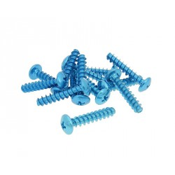Fairing screws anodized alu. blue M6x30  (12 pcs.)