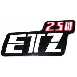 Nalepka ETZ 250 (rdeče-črno-bela)