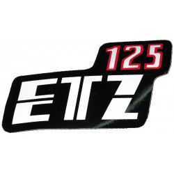 Nalepka ETZ 125 (rdeče-črno-bela)