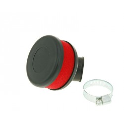 air filter Flat Foam red 28-35mm bent carb connection (adapter)