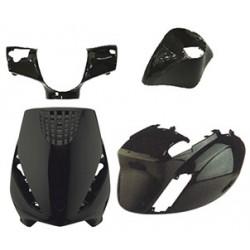 Body set - plastike 4Tune - Piaggio  Zip 50 2T/4T Air (4 kom.) - ČRNI