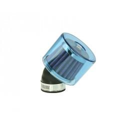 air filter Air-System metal gauze filter 35mm 45° carburetor connection blue shield