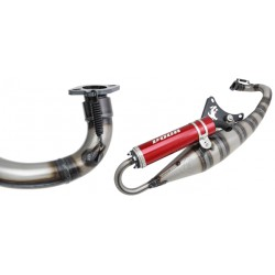 Voca Racing Exhaust Sabotage 50/70 Piaggio NRG / Typhoon red silencer
